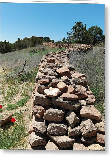 Rock Fence Greeting Card by Jeff Swan