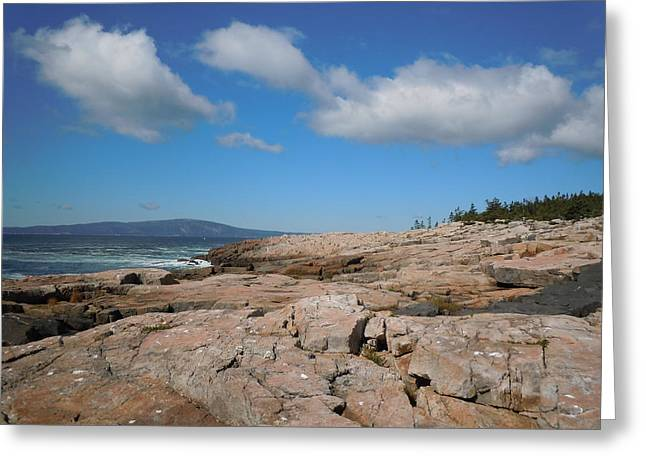Rock Flow At Schoodic Point Greeting Card