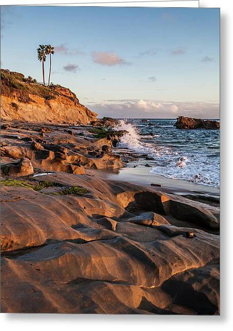 Greeting Card featuring the photograph Rock Formation Along The California Coast by Cliff Wassmann