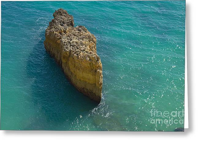 Rock Formation And The Sea In Algarve Greeting Card