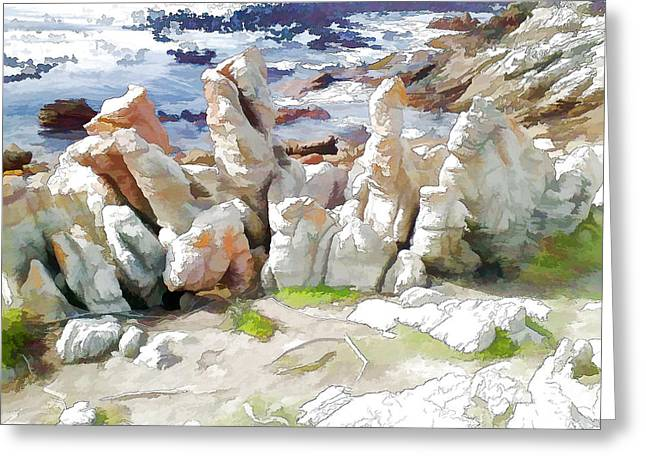 Rock Formation Bettys Bay Greeting Card by Jan Hattingh