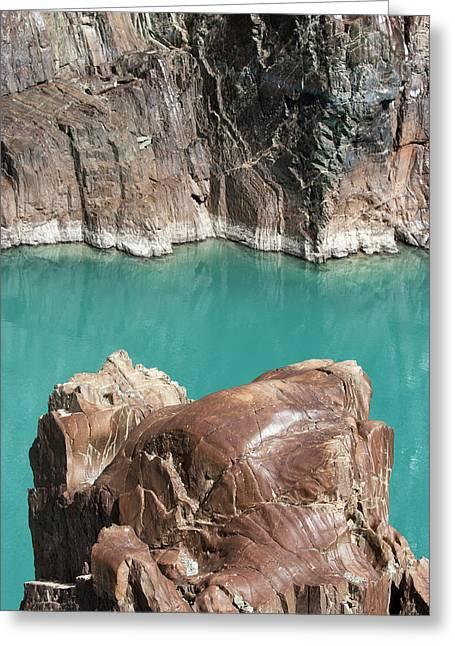 Greeting Card featuring the photograph Rock Formation Of Zanskar, Ladakh, 2009 by Hitendra SINKAR