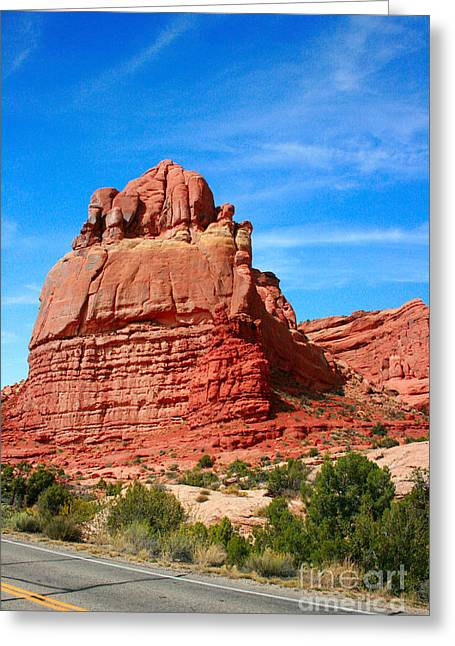 Rock Formations At Arches National Park Greeting Card