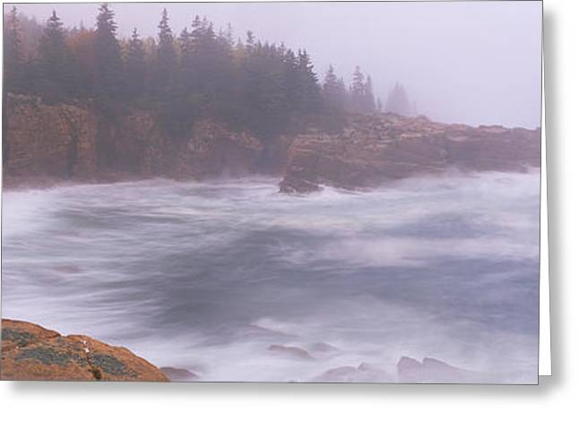 Rock Formations At The Coast, Mount Greeting Card by Panoramic Images