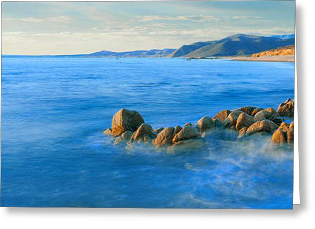 Rock Formations On The Coast, Punta Greeting Card by Panoramic Images