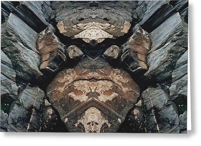 Greeting Card featuring the photograph Rock Gods Rock Matron by Nancy Griswold