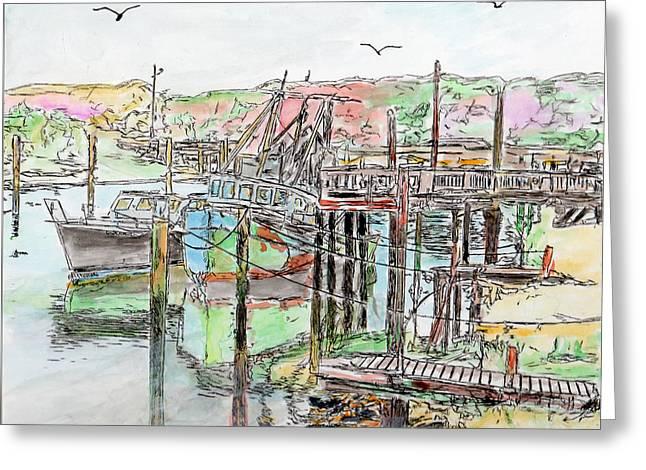 Rock Harbor, Cape Cod, Massachusetts Greeting Card