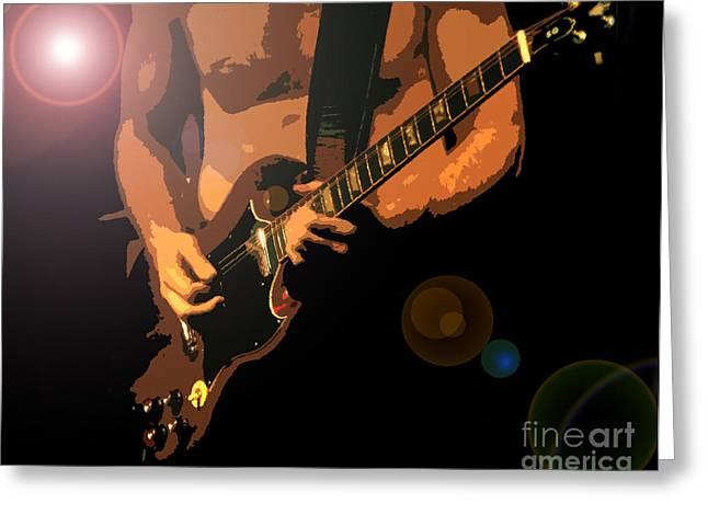 Rock Hero Greeting Card by David Lee Thompson
