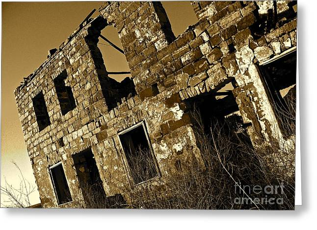 Rock House Ruins Greeting Card by Chuck Taylor