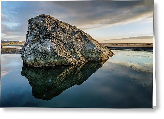 Rock In A River Greeting Card