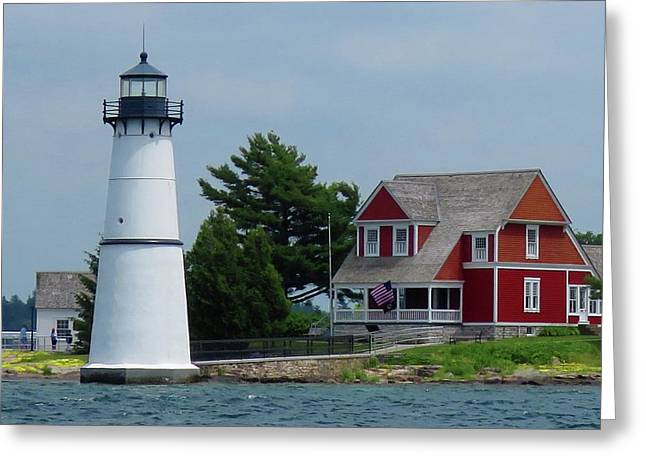 Rock Island Lighthouse July Greeting Card