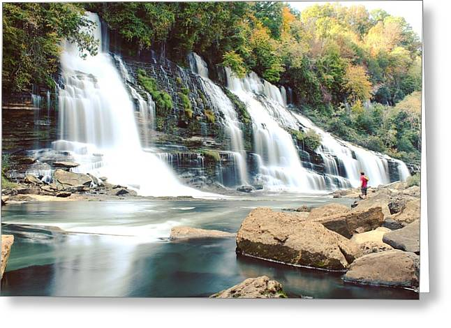 Rock Island Waterfalls Greeting Card