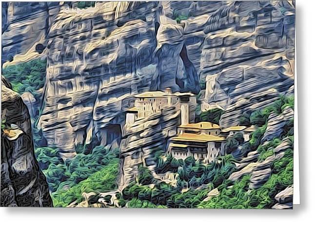 Rock Monastery Greeting Card by Alexandre Ivanov