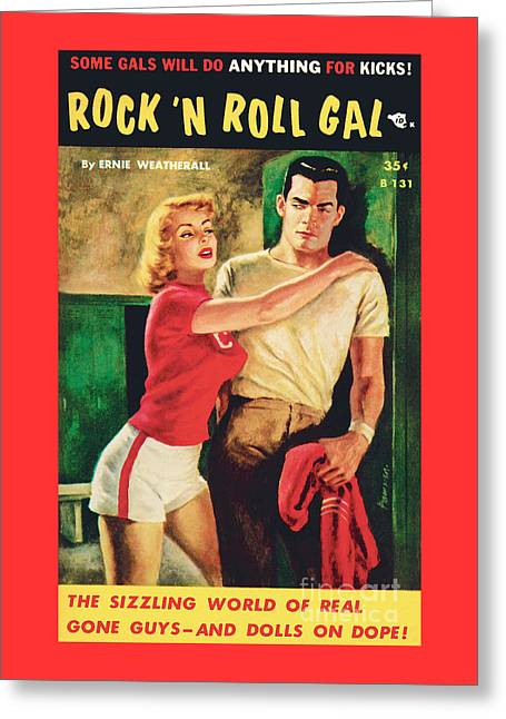 Rock 'n Roll Gal Greeting Card