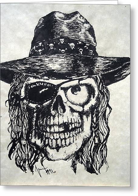 Rocks Drawings Greeting Cards - Rock-N-Roll will never die Greeting Card by Marx Rehburg