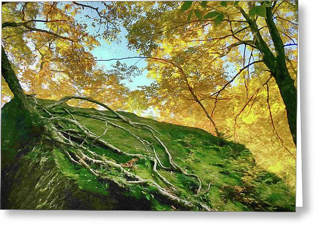 Greeting Card featuring the photograph Rock Of Ages by Jeff Folger