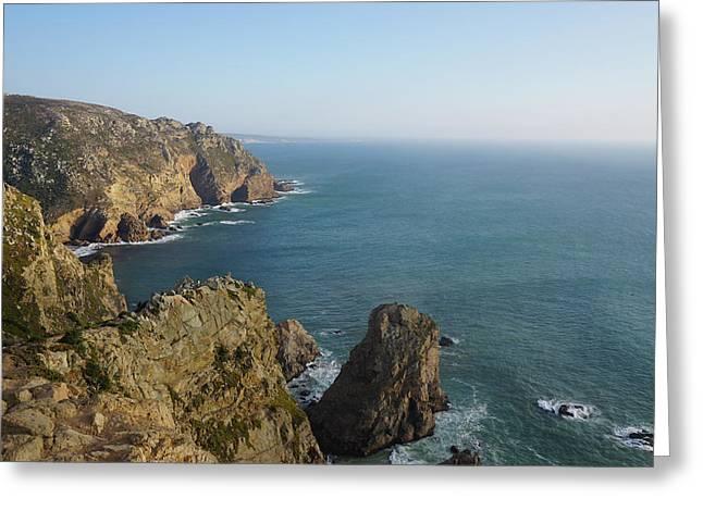 Rocks Near To Cabo Da Roca Greeting Card