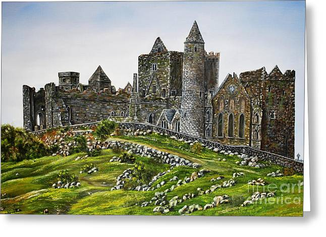 Rock Of Cashel Ireland Greeting Card by Avril Brand