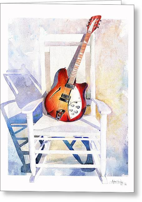 Electric Guitar Greeting Cards - Rock On Greeting Card by Andrew King