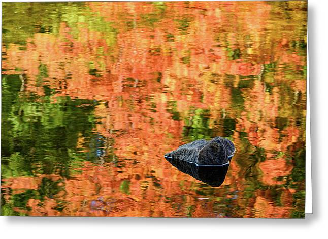 Rock On Reflection Greeting Card by Michael Blanchette