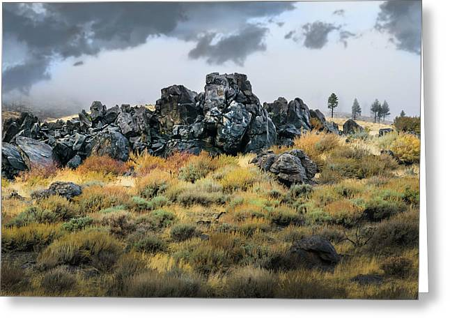 Greeting Card featuring the photograph Rock Outcrop by Frank Wilson