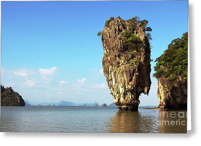 Rock Outcrops In Thailand Greeting Card