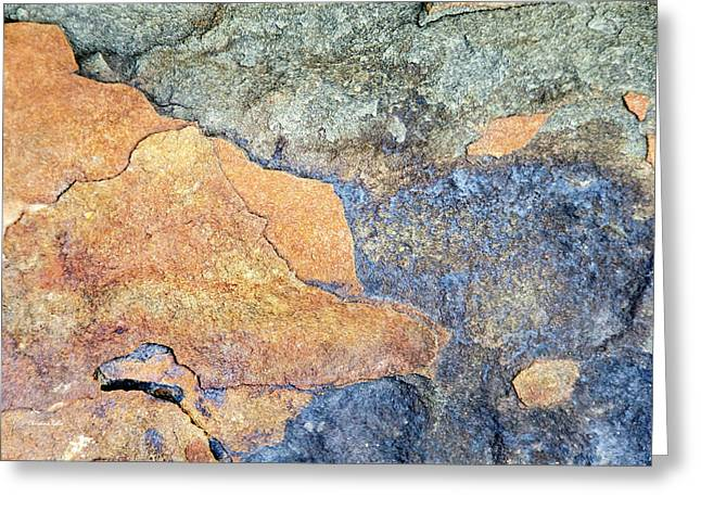 Greeting Card featuring the photograph Rock Pattern by Christina Rollo