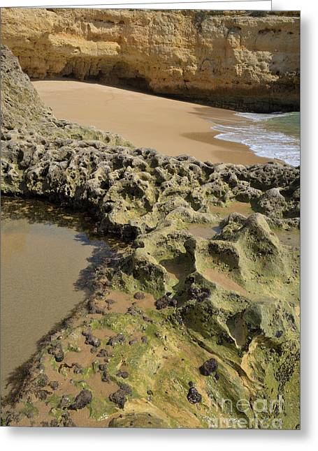 Rock Patterns And Cliff Greeting Card
