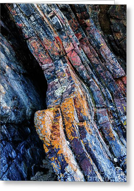 Greeting Card featuring the photograph Rock Pattern Sc01 by Werner Padarin