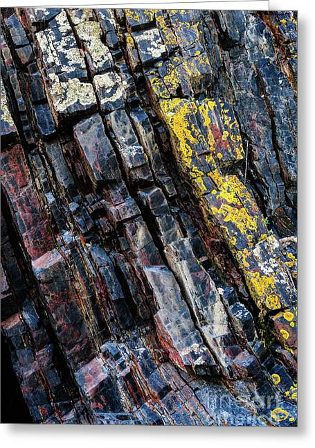 Greeting Card featuring the photograph Rock Pattern Sc02 by Werner Padarin