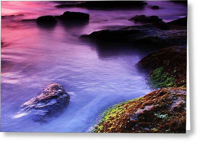 Rock Pool Sunrise Greeting Card