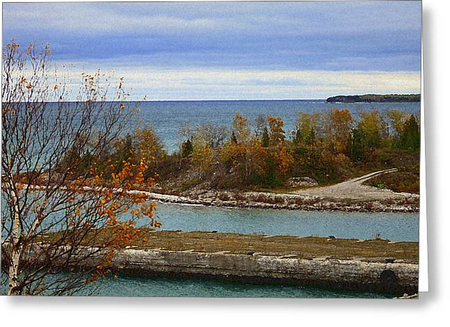 Rock Port In Alpena Michigan Greeting Card