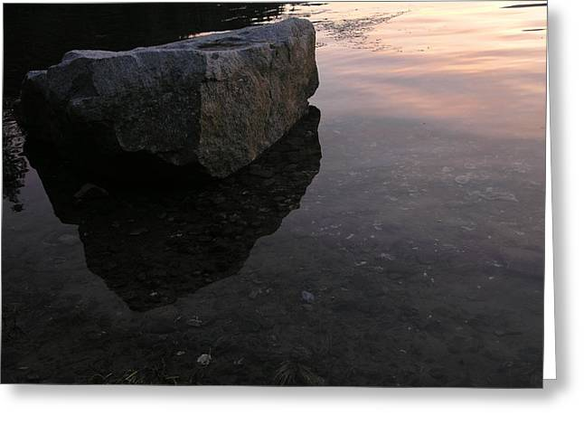 Rock Reflections Greeting Card