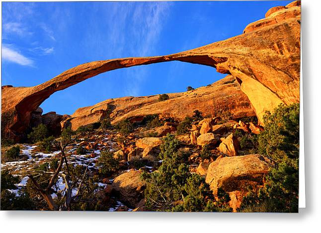 Rock Ribbon Greeting Card by Greg Norrell