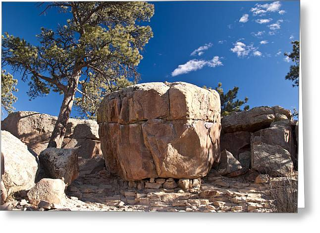 Rock Sentinel Greeting Card by Matthew Angelo