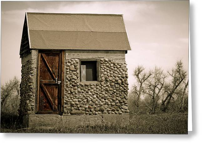 Rock Shed 2 Greeting Card by Marilyn Hunt