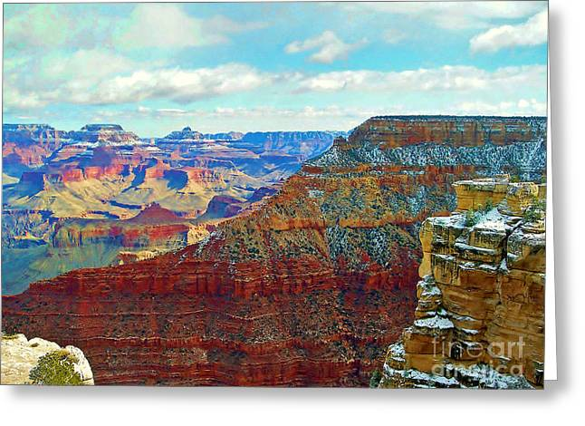 Greeting Card featuring the photograph Rock Solid by Roberta Byram