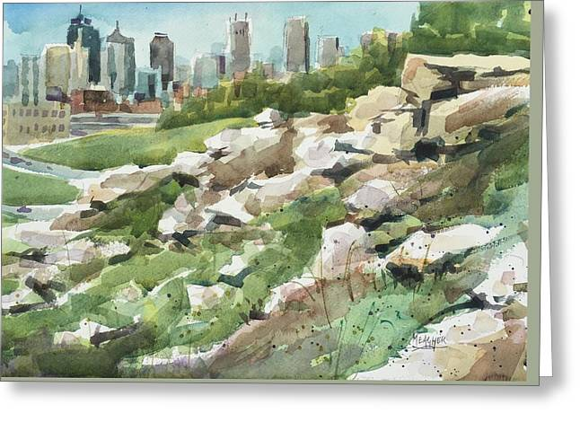 Rock Solid Greeting Card by Spencer Meagher