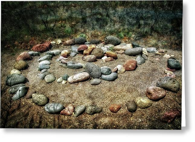Rock Spiral At Buddha Beach - Sedona Greeting Card by Jennifer Rondinelli Reilly - Fine Art Photography
