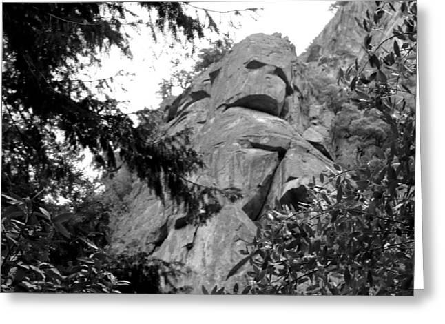 Rock Spirits At Yosemite B And W Greeting Card