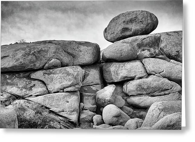 Greeting Card featuring the photograph Rock Steady by Jon Exley