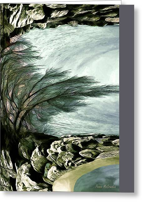Greeting Card featuring the photograph Rock Tunnel by Pennie  McCracken