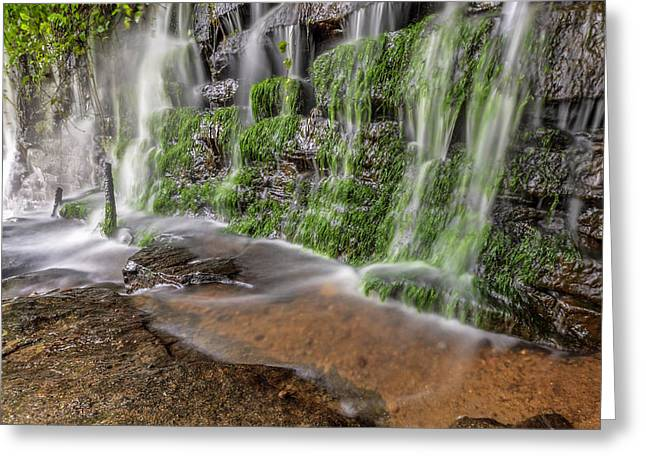 Rock Wall Waterfall Greeting Card