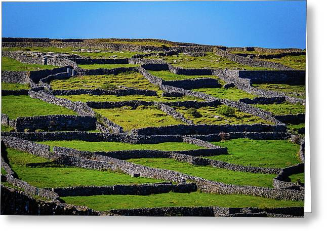Greeting Card featuring the photograph Rock Walls Of Inisheer, Aran Islands by James Truett