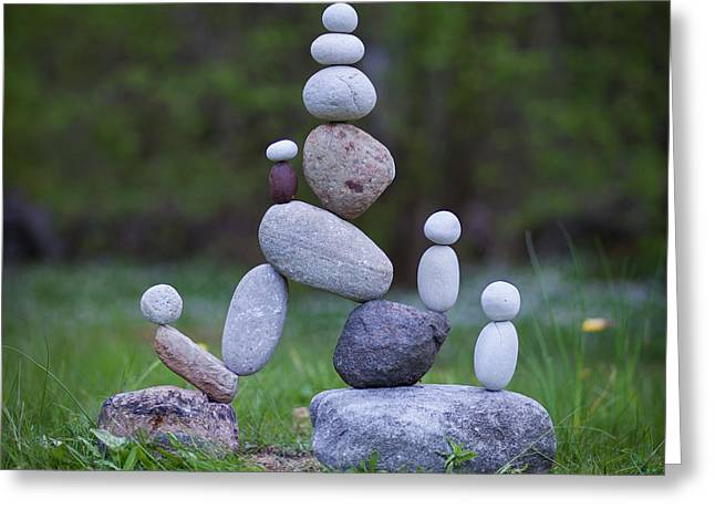 Rock Yoga Greeting Card
