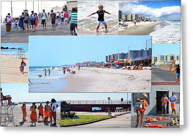 Rockaway Beach And Boardwalk 003 Greeting Card