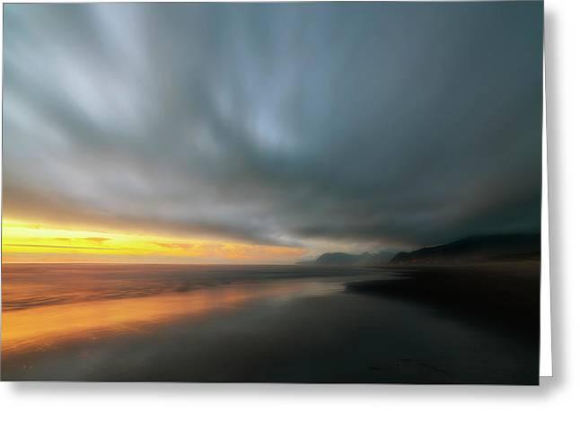 Rockaway Sunset Bliss Greeting Card
