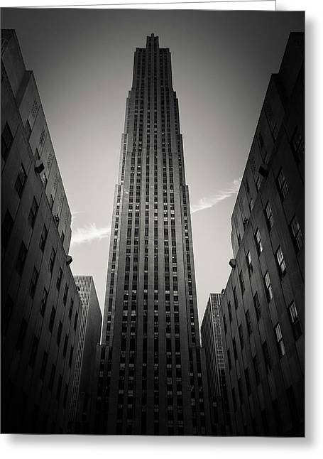 Rockefeller Center Greeting Card by Dave Bowman