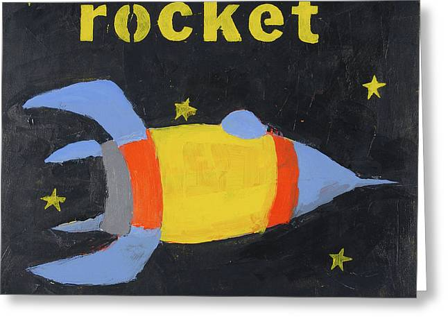 Rocket Greeting Card by Laurie Breen