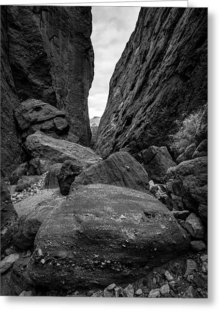 Greeting Card featuring the photograph Rockfall by Alexander Kunz